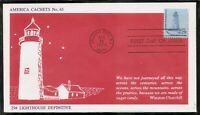 US SC # 1605 Sandy Hood Lighthouse FDC . America Cahets