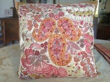 ETRO Silk Embroidered, Multi-Colored, Paisley and Floral Pillow, NWT, $270.00
