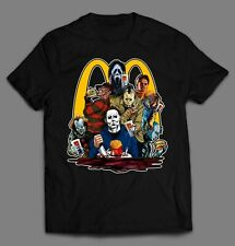 Horror Movie Killers Mcdonalds Lunch Time Halloween Shirt Many Options