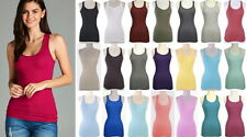 NEW Racerback Basic Cami Tank Top Ribbed Cotton/Spandex-XS/S-M-L