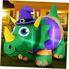 3.5 Foot Halloween Inflatables Dinosaur with Witch Hat Decorations with LED