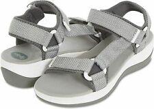 Floopi Hiking Sandals for Women Comfortable Platform Wedge Adjustable Grey Sz 9