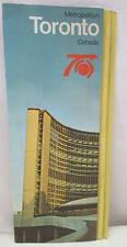 Vintage Metropolitan Toronto Canada Brochure Travel Tips City Hall Ontario