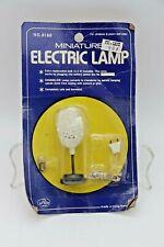 NOS Vintage Mid Century Miniature Electric Spaghetti Lamp Dollhouse Hong Kong