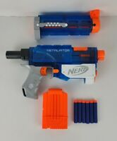 NERF N Strike Elite Retaliator Blaster Sonic Ice Series Clear Blue With Darts