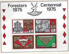 GUYANA 1975 SOUVENIR SHEET FOR THE FORESTERS CENTENNIAL MNH