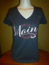 Gildan Ladies Perfect Fit Tee Shirt - MAINE - NEW NWT   Size S