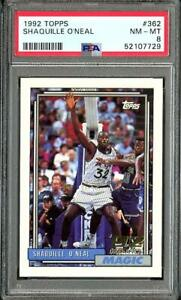 1992 Topps Shaquille Oneal RC Rookie PSA 8 NM-MT #362