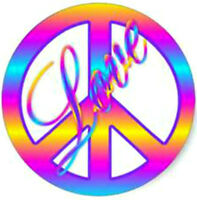 20 water slide nail art transfer pastel peace sign with love 3/8 inch trending