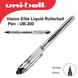 Uni-Ball Vision Elite Rollerball Ub-200 - Black