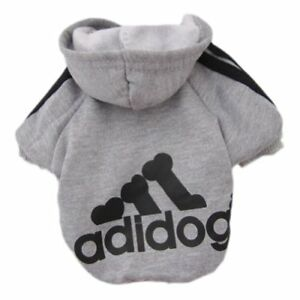 Adidog Small Dogs Puppy Apparel Hoodie Sweater T Shirt Jumpsuit Pet Hoodies