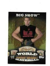2010 TOPPS WWE BIG SHOW WORLD CHAMPIONSHIP MATERIAL BELT WRESTLING CARD