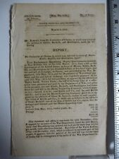 Government Report 1828 Committee Of Claims Claims On War 1812 Bills. #3046