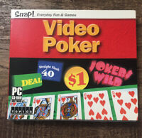Video Poker Games PC CD-ROM 2002 Windows 95 or later