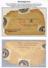 WW II envelop uit Dld, censuur AACHEN, naar Rotterdam; OPEN EN BESCHADIGD ONTV.