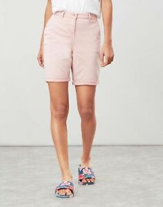 Joules Womens Cruise Long Length Chino Shorts - Pale Pink - 16