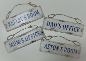 Personalised  - vintage, shabby chic, distressed sign
