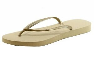 Havaianas Women's Slim Fashion Flip Flop Sandal Sand Grey/Light Golden Shoes