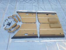 1978 BMW E12 530i 528i 533i Front rear Interior door Panel Trim Skin beige OEM