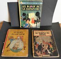 3 E.O. TINTIN  3350 euro de cote Temple soleil - Bijoux- secret licorne 1943