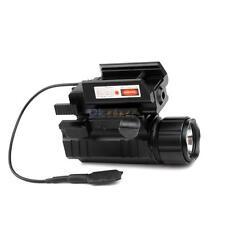 Tactical LED Flashlight Red Laser Sight Combo 20mm Rail for Pistol/Glock
