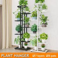7 Tier Iron Metal Plant Flower Stand Holder Candle Pot Shelf Rack Indoor Outdoor