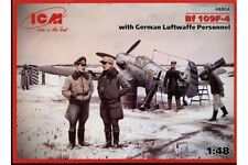 ICM 48804 1/48 Bf 109F-4 with German Luftwaffe Personnel