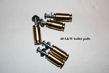 Handcrafted 40 S&W ( 10 mm )  bullet drawer pulls/cabinet knobs