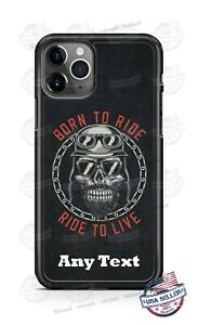 Born To Ride Motorcycle Racers Design Customize Phone Case For iPhone Samsung LG
