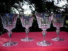 BACCARAT PICCADILLY 4 WINE CRYSTAL GLASS GLASSES 4 VERRES A VIN CRISTAL TAILLÉ Z