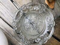 RAR Launay Hautin 1840! Pressglas WUNDERSCHÖN klein Teller Antik Glas