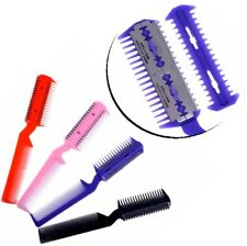 Comb With 2 Razor Blades Hair Diluted Trimmer Dog Brush Rasierkamm Effilierkamm