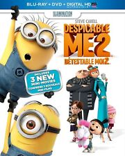 Despicable Me 2 (Blu-ray, DVD, Download) Brand New with Slip Cover