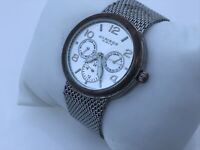 Akribos XXIV Ladies Watch Silver Tone Mesh Metal Band Multi Function 1ATM Water