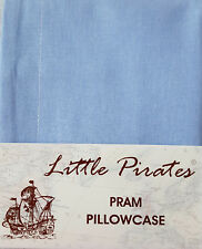 BRAND NEW BABY PRAM/COTBED PILLOWCASE 30x35 cm 100% COTTON in BLUE