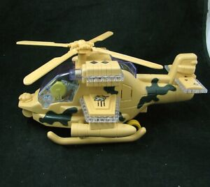 Animated Flashing Light Motion & Sound Combat Attack Helicopter Tech Toys Zille