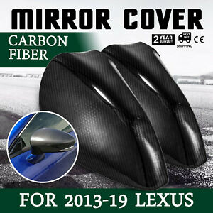 For Lexus IS200t IS250 IS350 2013-19 Add-On Carbon Fiber Side Mirror Cover Caps