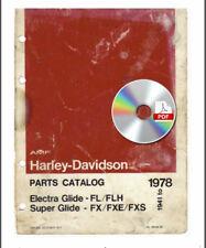 Harley Davidson 1941 1978 Parts Catalog Super Glide FL FLH FX FXE FXS 99458-78