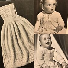 Vintage 1940s Baby Patons 360 Knitting Pattern Book Romper Hooded Shawl Blanket