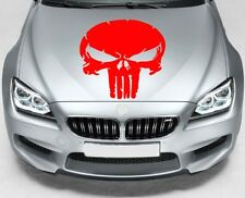 PUNISHER SKULL Car VINYL STICKERS Hood Van Window JDM DECALS
