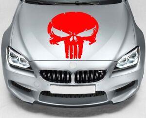 PUNISHER SKULL Car VINYL STICKERS Hood Van Window JDM DECALS