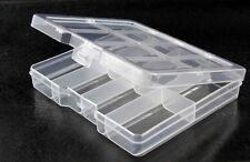 Small Clear Plastic 8 Compartment Storage Box with Lid for beading, sewing, etc