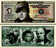 MARLON BRANDO billet de collection MILLION DOLLAR ! Le PARRAIN L'EQUIPEE SAUVAGE