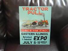 1970`S EXPO & TRACTOR PULLING CONTEST PROMO POSTER BOARD ART - DANVILLE, IL. #2