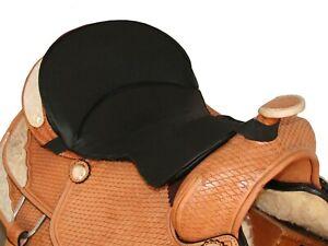 Tahoe Ortho Gel Seat Pads for Western Saddles Black