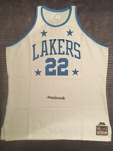 New With Tags Mitchell & Ness 1959-60 Elgin Baylor White Lakers Jersey sz 56