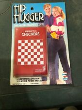 Checkers Vintage Hip Hugger Take Along Magnetic Game