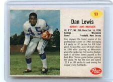 1962 POST CEREAL FOOTBALL #53 DAN LEWIS, DETROIT LIONS, WISCONSIN, 090417 (B)