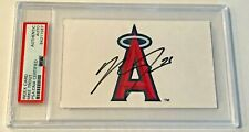 Mike Trout Anaheim Angels MLB RC Signed Auto 3x5 Index Card PSA/DNA Slabbed