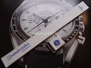 Omega Speedmaster Moonwatch 20mm 2-piece White Nylon Fabric Strap
